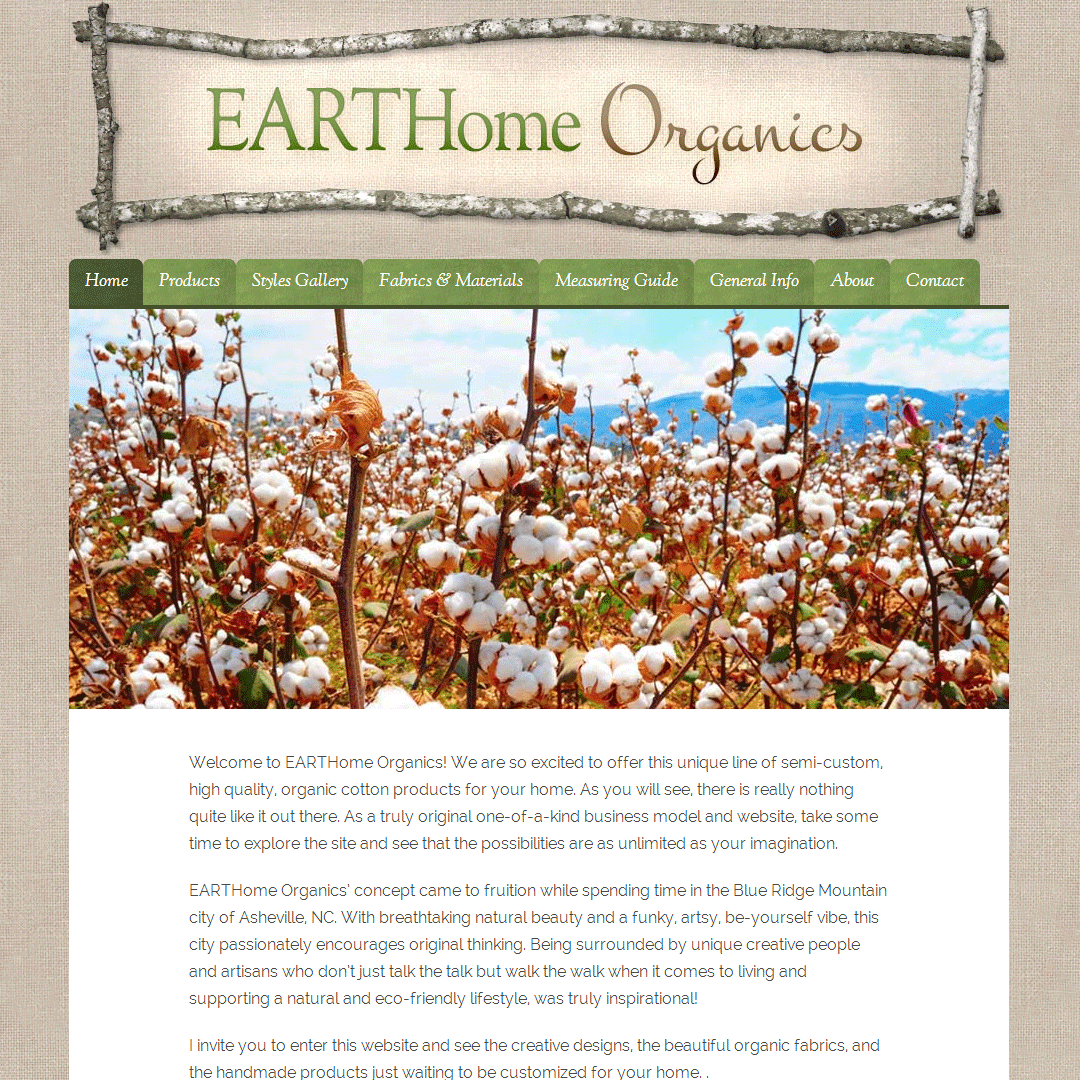 Website Case Study EARTHome Organics