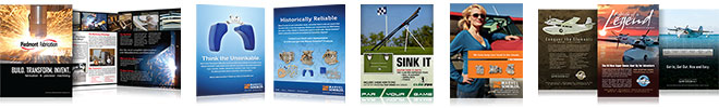 Brochure and Magazine Ad Examples
