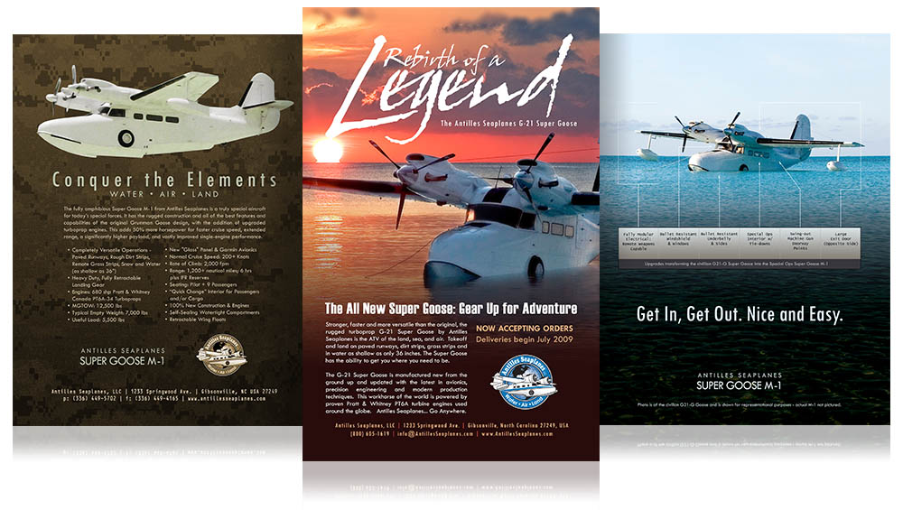 Airplane Manufacturer Flyers and Ads