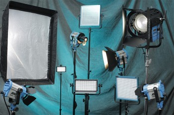 Various lighting options in our production studio