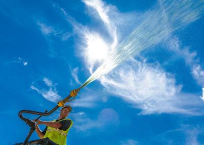 Giant-Development-water-spraying