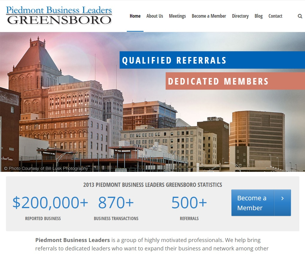 Piedmont Business Leaders Website