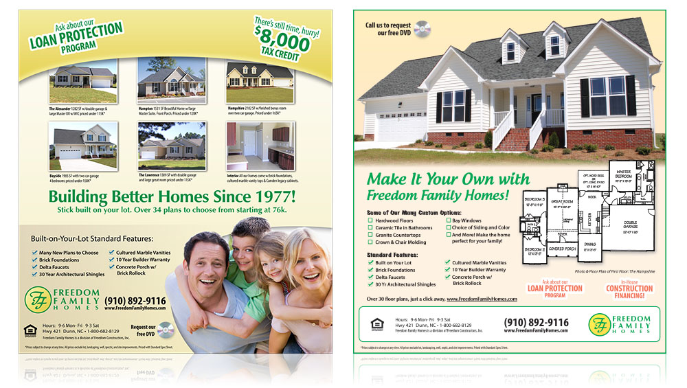 Freedom Family Homes Print Sample 1