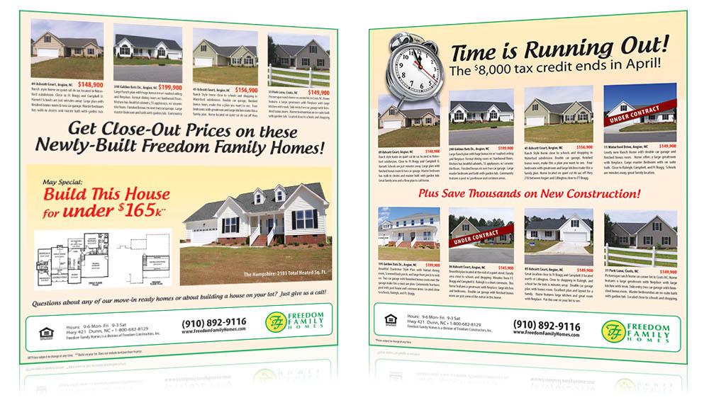 Freedom Family Homes Print Sample 2